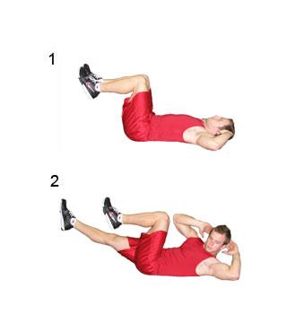 oefeningen gewichten buikspieren